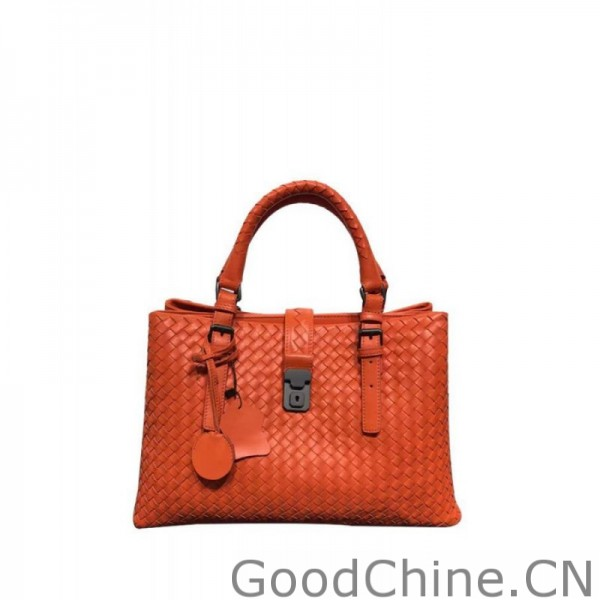 b88e5a6e756b Replica Bottega Veneta Classic Roma Bag In Barolo Intrecciato Calf ...
