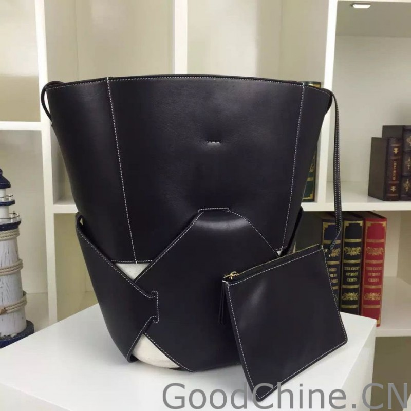 cf0a8da98ab5 Replica Celine Large Holdall Shoulder Bag in Black Calfskin Outlet ...