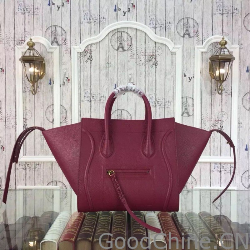 76732a7902e8 Replica Celine Medium Phantom Bag In Fuchsia Elephant Calfskin ...