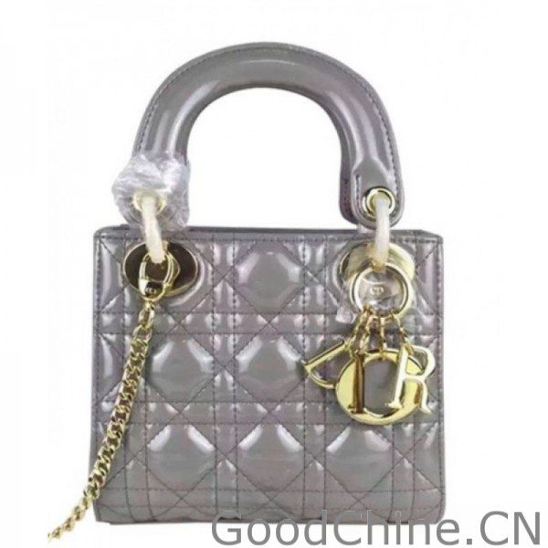 Replica Christian Dior Quilted Patent Leather Micro Lady Dior Bag ... a9024dacd1aba