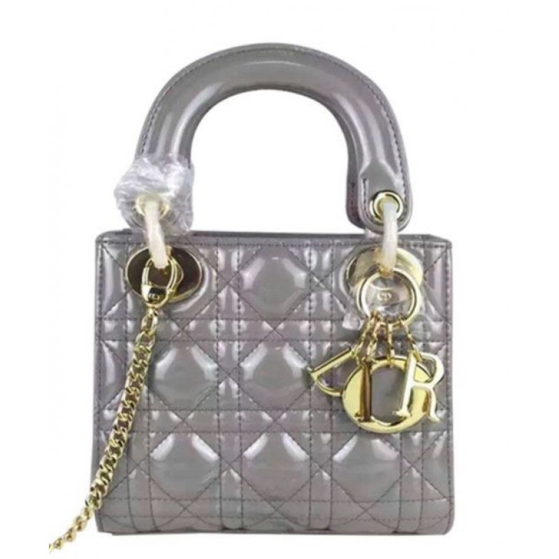 107a3beea8e3 Replica Christian Dior Quilted Patent Leather Micro Lady Dior Bag ...