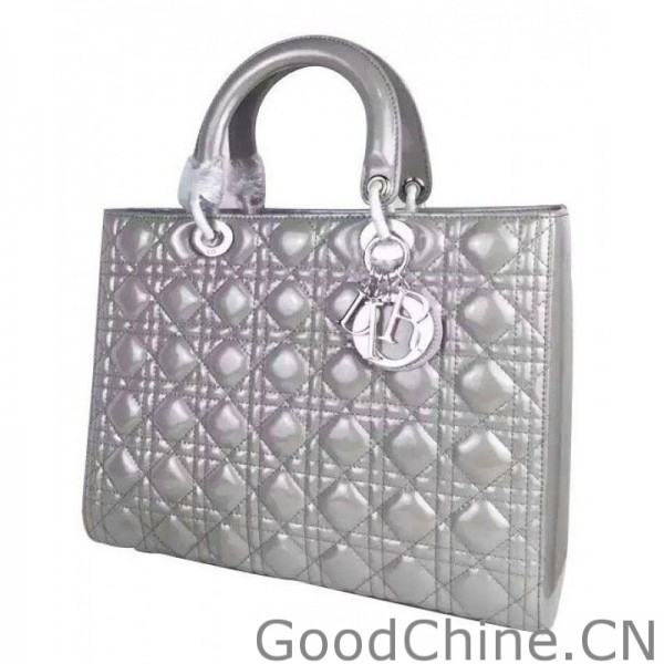Replica Dior Lady Dior Cannage Quilted Patent Leather Large Tote Bag ... 6fb958919a4e8