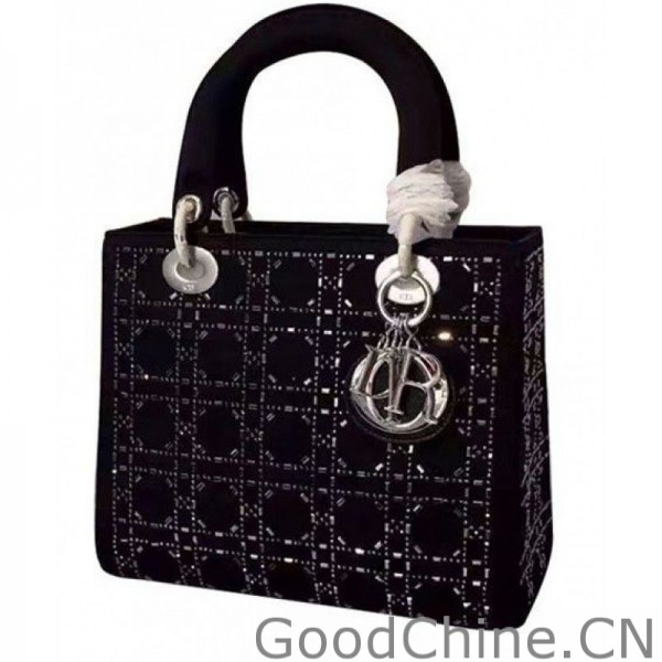 Replica Dior Lady Dior Medium Cannage Studded tote Bag Black Outlet ... ca589c38c7b2c