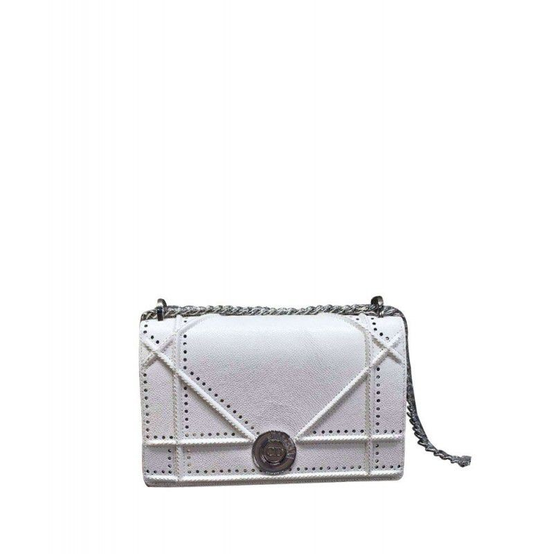 8df535f4e90d Replica Dior Micro-Cannage Baby Diorama Flap Bag White Outlet Online ...