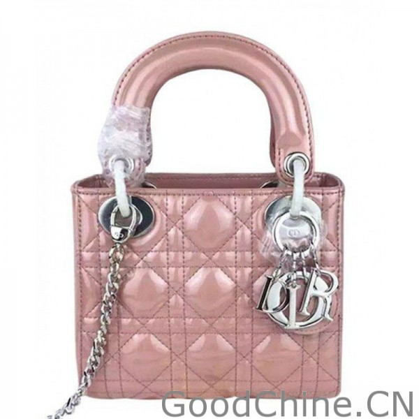 Dior Quilted Patent Leather Micro Lady Dior Bag Pink 0eeb6e9b4b526
