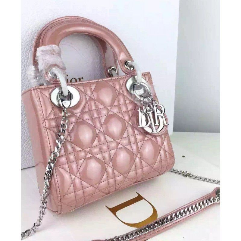 10c8e386246f Replica Dior Quilted Patent Leather Micro Lady Dior Bag Pink Outlet ...