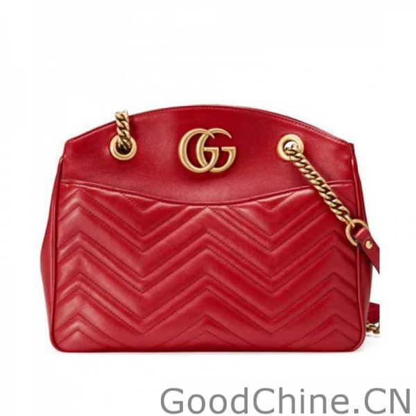 29c5202f7378 Replica Gucci GG Marmont matelasse tote bag 443501 Red Outlet Online ...
