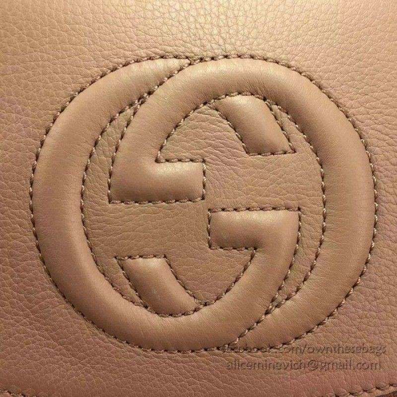 416634542937 Replica Gucci Soho Leather Chain Shoulder Bag Pink 323190 Outlet ...