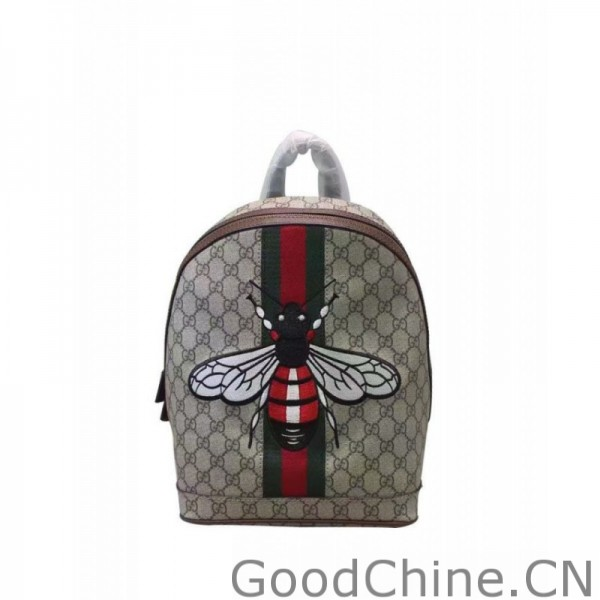 da2e082c229f Replica Gucci Web Animalier Backpack With Bee 419585 Coffee Outlet ...