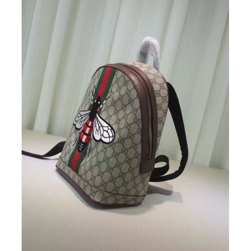 f4dc9c2adfa Replica Gucci Web Animalier Backpack With Bee 419585 Coffee Outlet ...