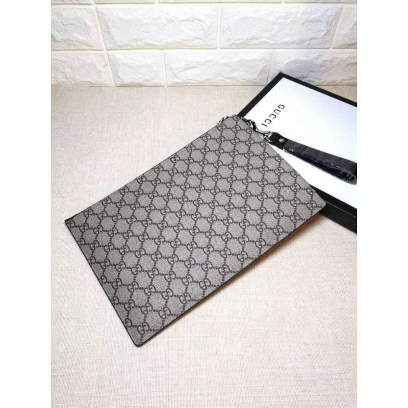 0214bc837db Replica Gucci Bee print GG Supreme Pouch 473904 Outlet Online Sale