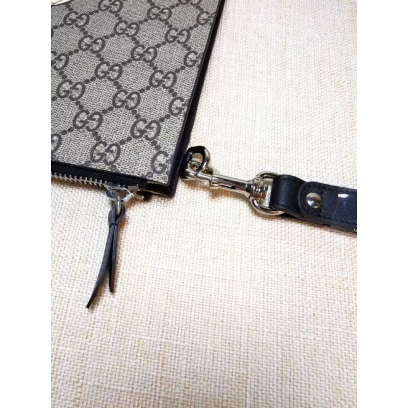 df554a3a67c Replica Gucci Bee print GG Supreme Pouch 473904 Outlet Online Sale