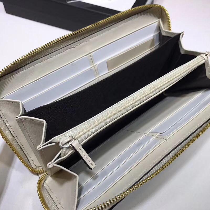 b879f22afd8ec4 Replica Gucci Sylvie leather Zip Around Wallet 476083 White Outlet ...
