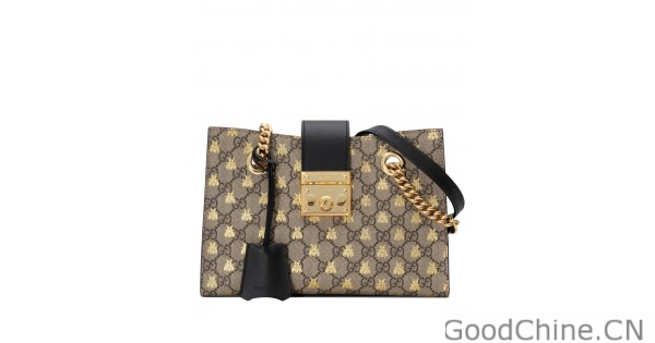 d792f83d6ef Replica Gucci Padlock small GG bees shoulder bag 498156 Coffee Outlet  Online Sale