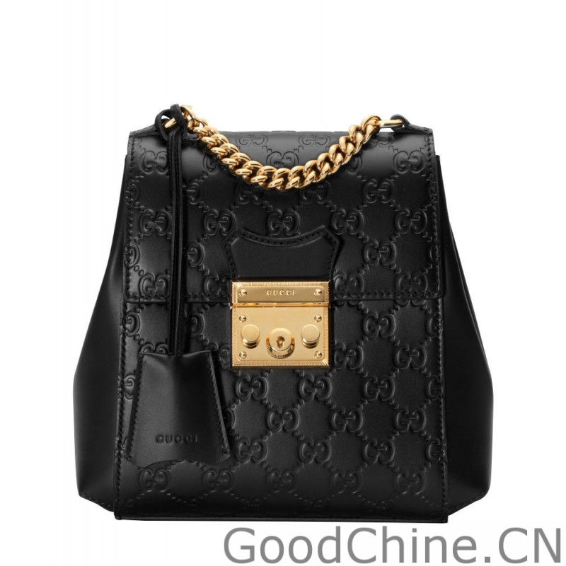 8d84400475d Replica Gucci Padlock Gucci Signature backpack 498194 Black Outlet ...