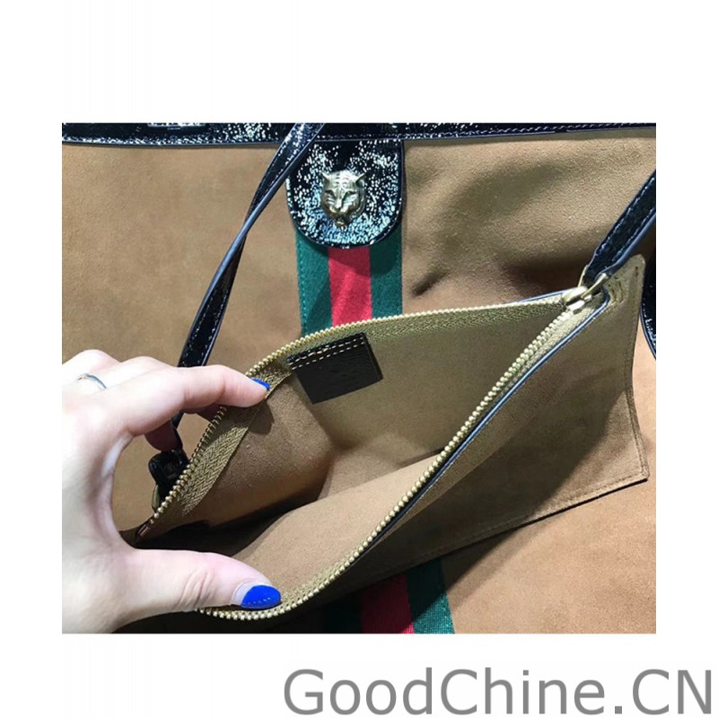 faed6a82d0fe Replica Gucci Ophidia suede large tote 519335 Coffee Outlet Online Sale