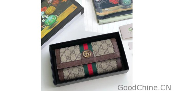3f30c72d3a Replica Gucci Ophidia GG Continental Wallet 523153 Brown Outlet Online Sale