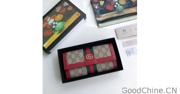 1b10292c529 Replica Gucci Ophidia GG Continental Wallet 523153 Red Outlet Online Sale