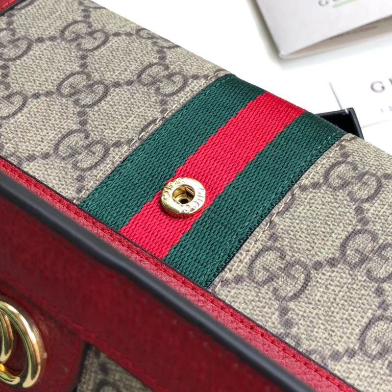 e496007f552 Replica Gucci Ophidia GG Continental Wallet 523153 Red Outlet Online ...
