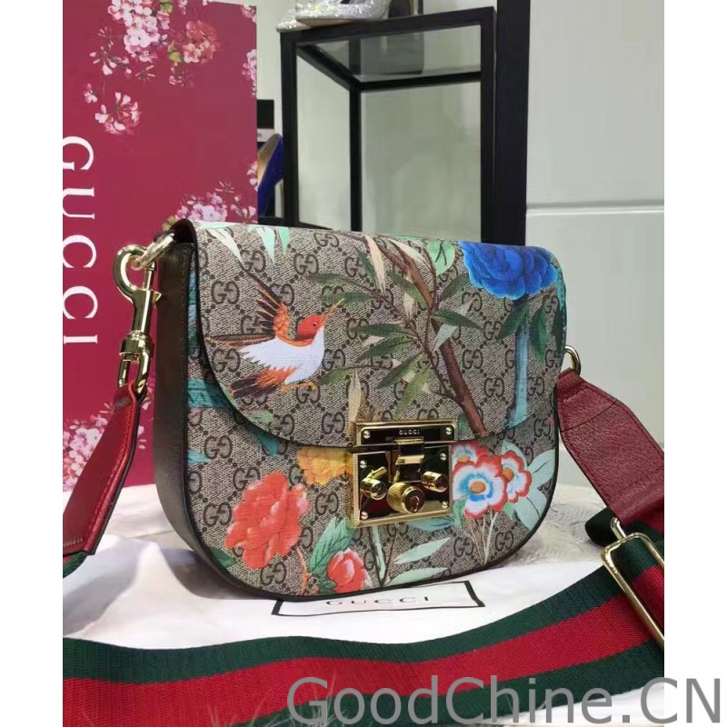 36f78dbbe5b Replica Gucci Padlock Gucci Tian Shoulder Bag 453189 Red Outlet ...