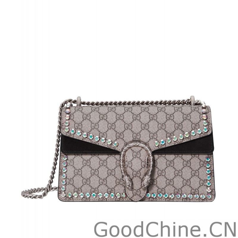 a47acb072622 Replica Gucci Dionysus GG Supreme shoulder bag with crystals 400249 ...
