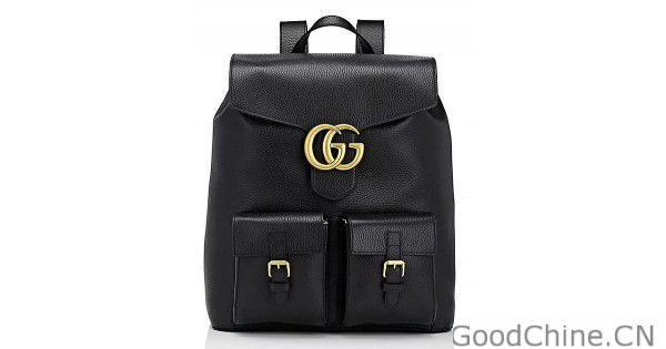 1e632a3dc633 Replica Gucci Marmont Backpack Leather 429007 Black Outlet Online Sale