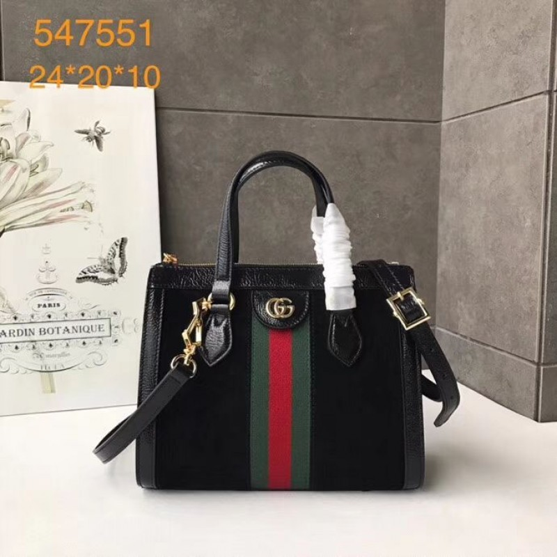 36537b15f1b Replica Gucci Ophidia Small GG Tote bag 547551 Black Outlet Online Sale