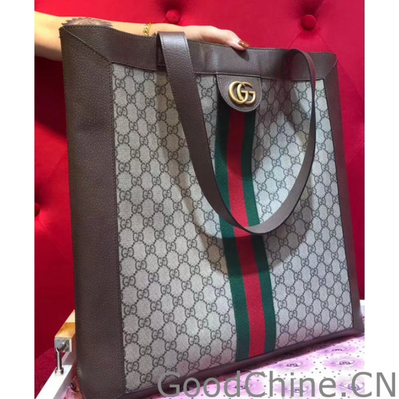 Replica Gucci Ophidia soft GG Supreme large tote 519335 Coffee ... afb2e24ab1cac