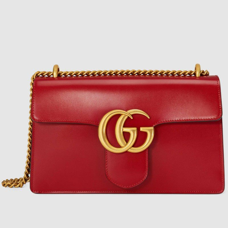 90dcc604209 Replica Gucci GG Marmont Leather Shoulder Bags 431777 CDZ0T 6433 ...