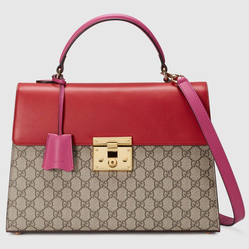 76fb2687b93 Replica Gucci Padlock GG Supreme Top Handle Bags 432674 KLQIG 9784 ...