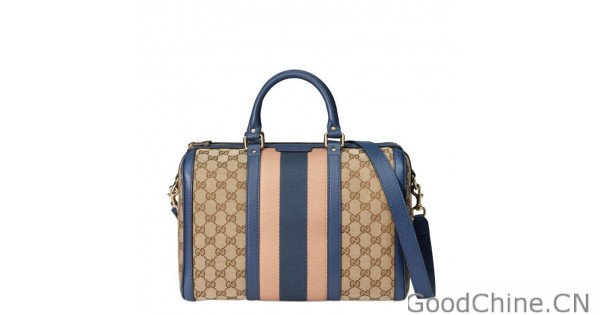 6413ac4655 Replica Gucci Vintage Web Original GG Canvas Boston Bags 247205 F4CKG 9795  Outlet Online Sale