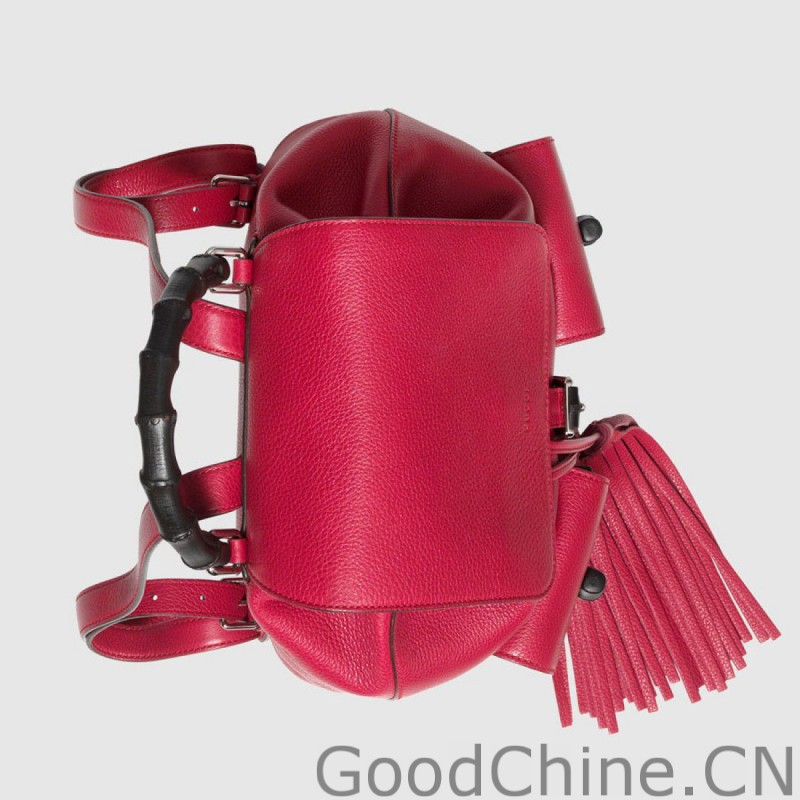 b9e8012259a Replica Gucci Bamboo Leather Backpack 370833 A7M0N 5529 Outlet ...