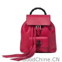 795249ec3 Replica Gucci Bamboo Leather Backpack 387149 A7M0N 6525 Outlet ...