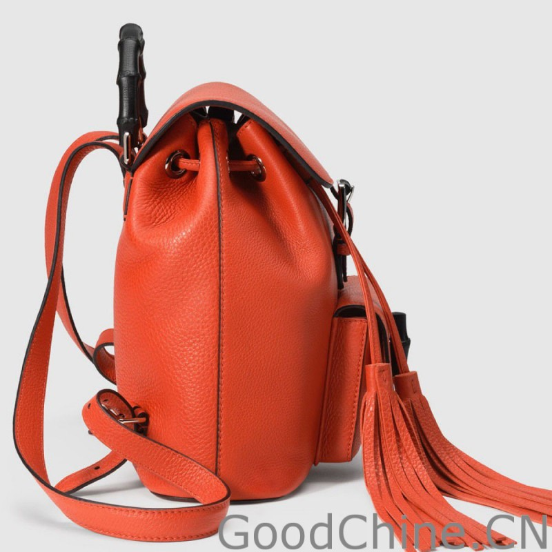 afdbebd668f Replica Gucci Bamboo Leather Backpack 387149 A7M0N 6525 Outlet ...