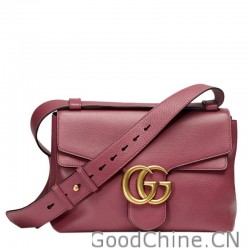 Replica Gucci GG Marmont Leather Top Handle Bags 421890 A7M0T 6813 ... f6ca2122aa2b3