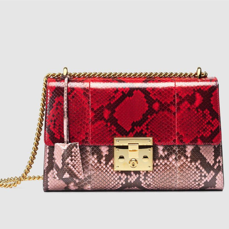 c7db4808e43 Replica Gucci Padlock Python Shoulder Bags 409486 LJCBG 8420 Outlet ...