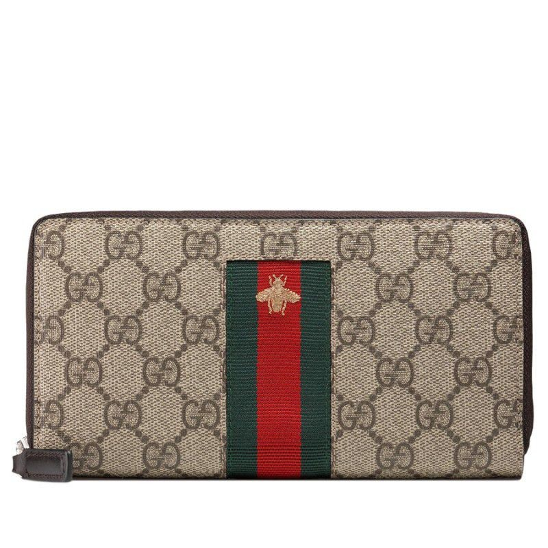 51361bf81e5 Replica Gucci Web GG Supreme Zip Around Wallets 408831 KLQCN 8461 ...