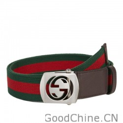 bc13bf31afc Gucci Canvas Belts With Cut Out Interlocking G Buckle 387032 H1FIN 2061