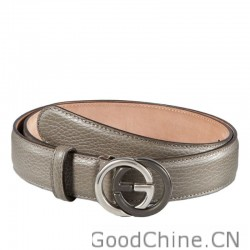 a27a29625f3 Gucci Leather Belts With Contrast Interlocking G Buckle 295704 CAO0N 1226