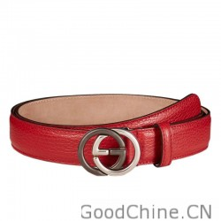 e85180aff6e Gucci Leather Belts With Contrast Interlocking G Buckle 295704 CAO0N 6420