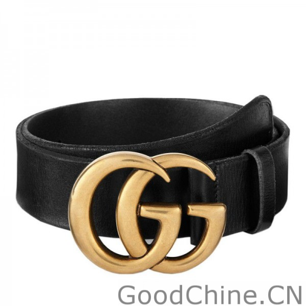 2d6b2e9876a Replica Gucci Leather Belts With Double G Buckle 409416 CVE0T 1000 ...