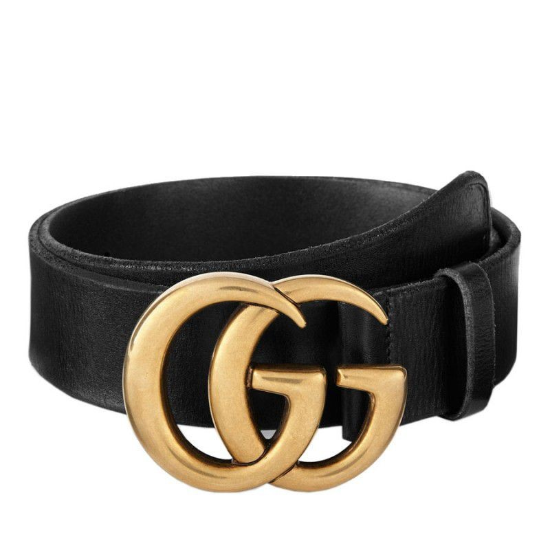 94c6188501a7 Replica Gucci Leather Belts With Double G Buckle 409416 CVE0T 1000 ...