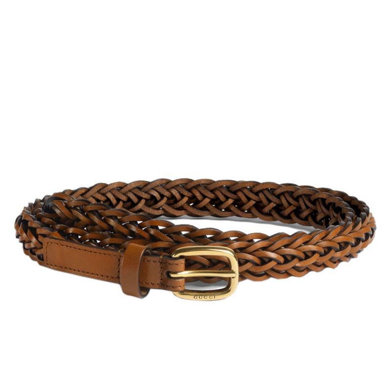 46bce590e07 Replica Gucci Thin Hand-braided Leather Belts 380607 BDVDT 2535 ...