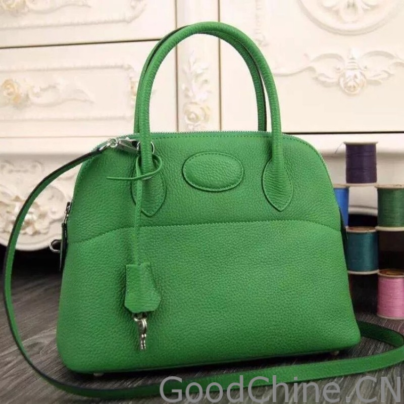 1d4f52cb03 ... sweden hermes bolide tote bag in vert leather f236a fa713
