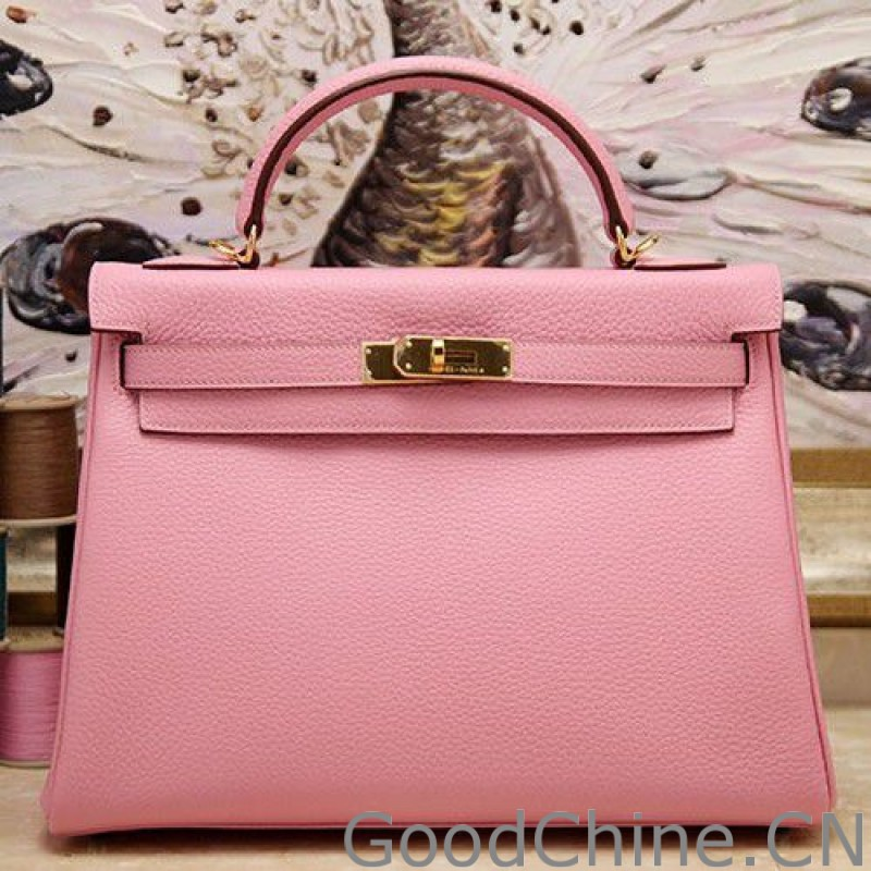 3c098306708a ... czech hermes kelly bag 2832cm in pink clemence leather ebd9d 0bd66 ...
