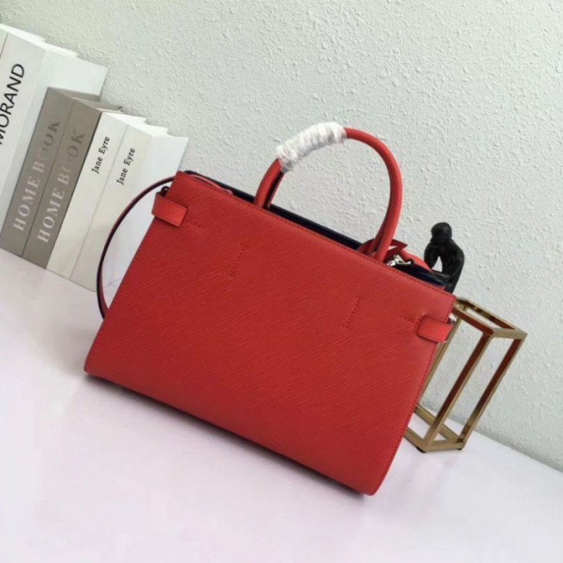 0fc60bd719aa Replica Louis Vuitton Red Twist Tote Epi Leather M54811 Outlet ...