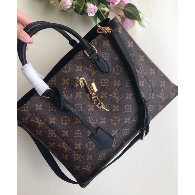 d4e5226ff8b0 Replica Louis Vuitton Flower Tote Monogram Canvas M43550 Black ...