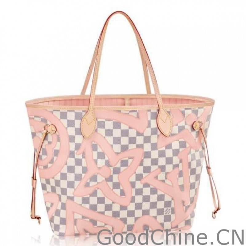 a1671159c050 Replica Louis Vuitton Neverfull MM Bag Damier Azur N41050 Outlet ...