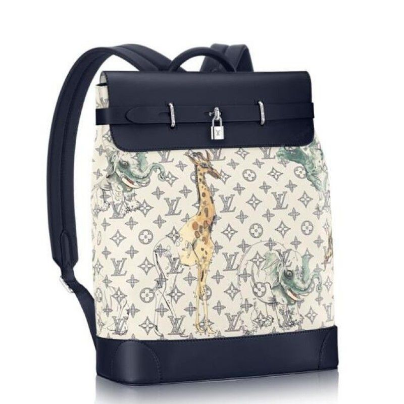 f658db9f2546 Replica Louis Vuitton Steamer Backpack Monogram Savane M43296 Outlet ...