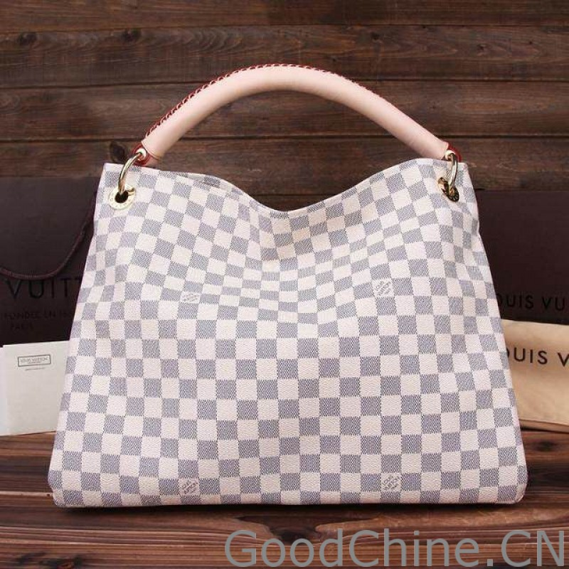dc27df34b188 Replica Louis Vuitton Artsy MM Damier Azur Canvas N41174 Outlet ...